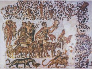 Mosaïque le triomphe de Diyonysos